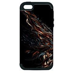 A Beautiful Beast Apple Iphone 5 Hardshell Case (pc+silicone) by Contest1889625