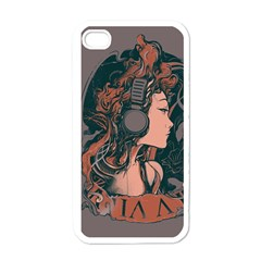 Medussa Turns To Rock Apple Iphone 4 Case (white) by Contest1889625