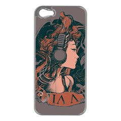 Medussa Turns To Rock Apple Iphone 5 Case (silver) by Contest1889625