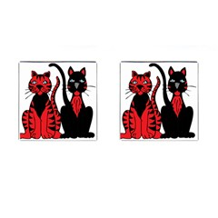 Cool Cats Cufflinks (square) by StuffOrSomething