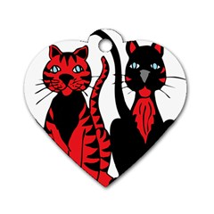 Cool Cats Dog Tag Heart (one Sided)  by StuffOrSomething