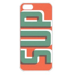 Sup  Apple Iphone 5 Seamless Case (white) by Contest1888309