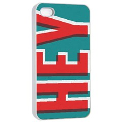 Hey Apple Iphone 4/4s Seamless Case (white) by Contest1888309
