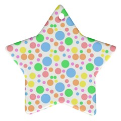 Pastel Bubbles Star Ornament by StuffOrSomething