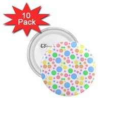 Pastel Bubbles 1 75  Button (10 Pack) by StuffOrSomething
