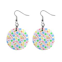 Pastel Bubbles Mini Button Earrings by StuffOrSomething