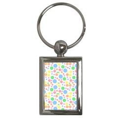 Pastel Bubbles Key Chain (rectangle) by StuffOrSomething
