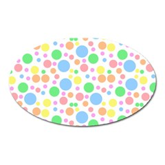 Pastel Bubbles Magnet (oval) by StuffOrSomething