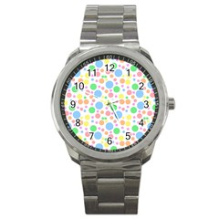 Pastel Bubbles Sport Metal Watch by StuffOrSomething