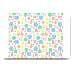 Pastel Bubbles Large Door Mat by StuffOrSomething