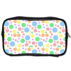 Pastel Bubbles Travel Toiletry Bag (two Sides) by StuffOrSomething