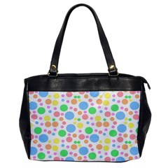 Pastel Bubbles Oversize Office Handbag (one Side) by StuffOrSomething