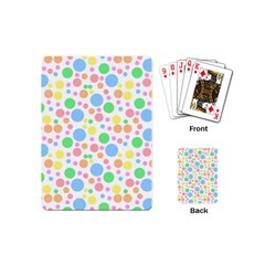 Pastel Bubbles Playing Cards (mini) by StuffOrSomething