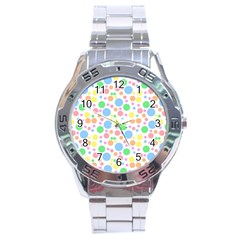 Pastel Bubbles Stainless Steel Watch by StuffOrSomething