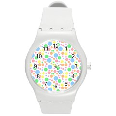Pastel Bubbles Plastic Sport Watch (medium) by StuffOrSomething