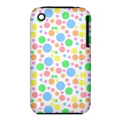 Pastel Bubbles Apple Iphone 3g/3gs Hardshell Case (pc+silicone)