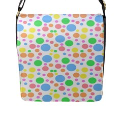 Pastel Bubbles Flap Closure Messenger Bag (large) by StuffOrSomething