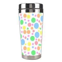 Pastel Bubbles Stainless Steel Travel Tumbler by StuffOrSomething