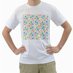 Pastel Bubbles Men s T Shirt (white)