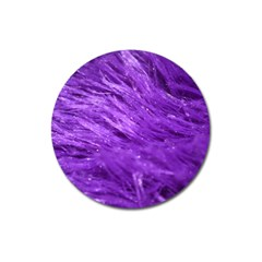 Purple Tresses Magnet 3  (round) by FunWithFibro