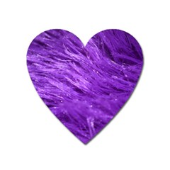 Purple Tresses Magnet (heart)