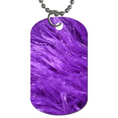 Purple Tresses Dog Tag (two Sided)