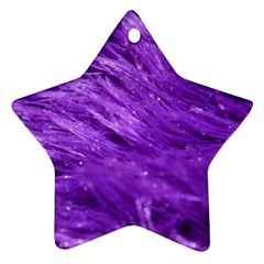 Purple Tresses Star Ornament (two Sides)