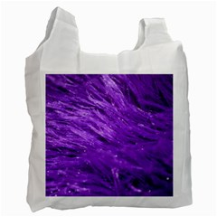 Purple Tresses White Reusable Bag (one Side)