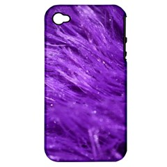 Purple Tresses Apple Iphone 4/4s Hardshell Case (pc+silicone) by FunWithFibro