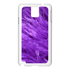 Purple Tresses Samsung Galaxy Note 3 N9005 Case (white) by FunWithFibro