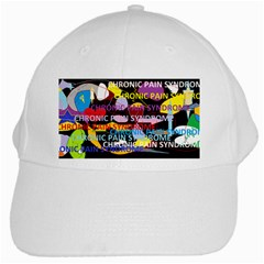 Chronic Pain Syndrome White Baseball Cap by FunWithFibro