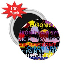 Chronic Pain Syndrome 2 25  Button Magnet (100 Pack) by FunWithFibro