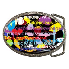 Chronic Pain Syndrome Belt Buckle (oval) by FunWithFibro