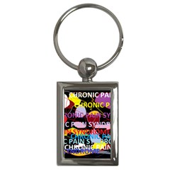Chronic Pain Syndrome Key Chain (rectangle) by FunWithFibro
