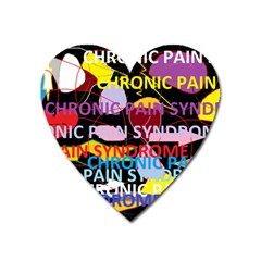 Chronic Pain Syndrome Magnet (heart) by FunWithFibro