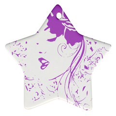 Purple Woman Of Chronic Pain Star Ornament by FunWithFibro