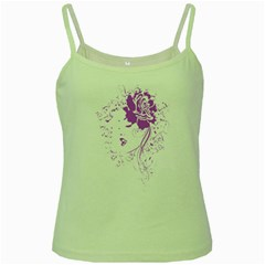 Purple Woman Of Chronic Pain Green Spaghetti Tank