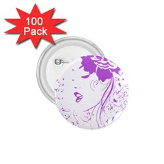 Purple Woman Of Chronic Pain 1 75  Button (100 Pack)