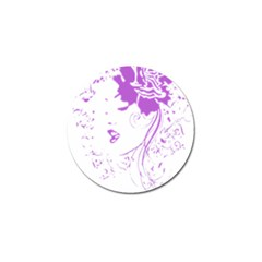 Purple Woman Of Chronic Pain Golf Ball Marker by FunWithFibro