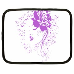 Purple Woman Of Chronic Pain Netbook Sleeve (large) by FunWithFibro