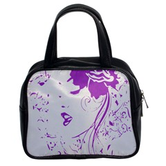 Purple Woman Of Chronic Pain Classic Handbag (two Sides) by FunWithFibro