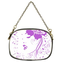 Purple Woman Of Chronic Pain Chain Purse (two Sided)  by FunWithFibro