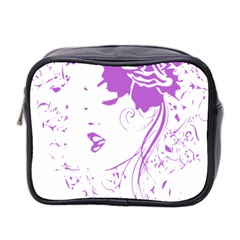 Purple Woman Of Chronic Pain Mini Travel Toiletry Bag (two Sides) by FunWithFibro