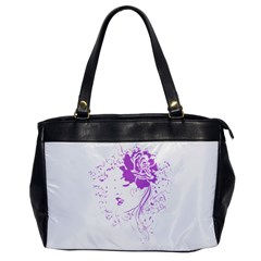 Purple Woman Of Chronic Pain Oversize Office Handbag (one Side) by FunWithFibro