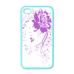 Purple Woman Of Chronic Pain Apple Iphone 4 Case (color) by FunWithFibro