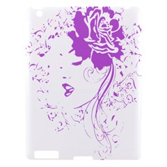 Purple Woman Of Chronic Pain Apple Ipad 3/4 Hardshell Case by FunWithFibro