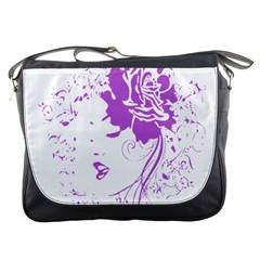 Purple Woman Of Chronic Pain Messenger Bag by FunWithFibro