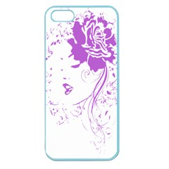 Purple Woman Of Chronic Pain Apple Seamless Iphone 5 Case (color) by FunWithFibro