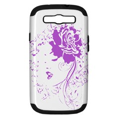 Purple Woman Of Chronic Pain Samsung Galaxy S Iii Hardshell Case (pc+silicone)