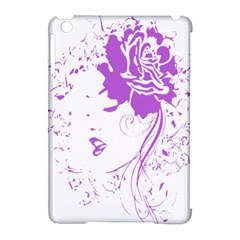 Purple Woman Of Chronic Pain Apple Ipad Mini Hardshell Case (compatible With Smart Cover) by FunWithFibro